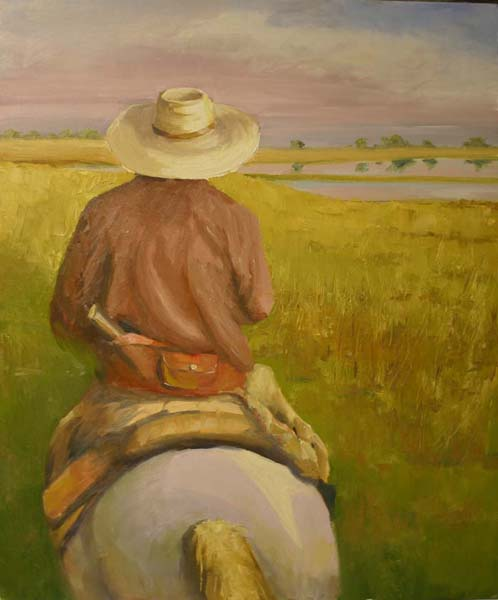 On the Pampas Argentina Oil Painting